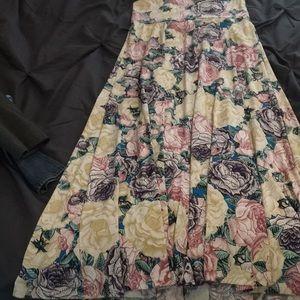 Pastel floral maxi skirt